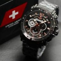 harga Jam Tangan Pria Sporty Swissarmy Chronograph Black Tokopedia.com