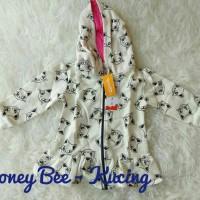 Jaket Anak Honeybee 1-5T | Jaket Anak Impor Murah Motif Putih Kucing
