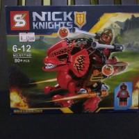 NEXO KNIGHTS BEAST MASTER DINO lego bootleg kw brick set mainan 716