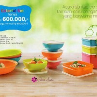 Jual promo turun harga tupperware colour set Murah