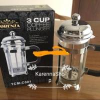 Jual Fiorenza Tea Coffee Pot 3 Cup Coffee Plunger French Press Tea & Coffee Murah