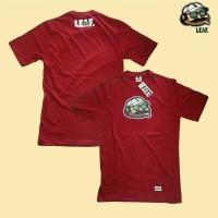 kaos LEAF / kaos maroon / tshirt pria / kaos simple