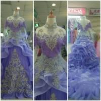 gaun pengantin kebaya modern model gelombang