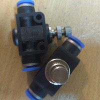 speed control 6mm / pneumatic flow control selang 6mm x 6mm