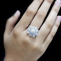 harga Perhiasan Cincin Perak / Silver 925 Lapis Emas Putih Asli Original Tokopedia.com
