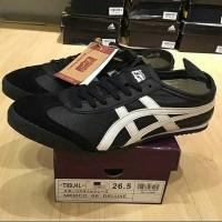 onitsuka tiger japan black (original) 100% kulit asli