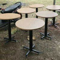 meja bulat diameter 60cm cafe resto rumah makan modern minimalis