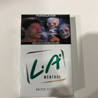 LA Menthol 16 Batang / Mentol / Hijau / Rokok Kretek Filter Grosir