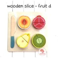 Zoetoys Wooden Slice - Fruit D   mainan edukasi   mainan anak