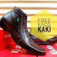 Jual Sepatu Pantofel Zippers Rajut Kickers Kulit Asli Pria Wanita Murah