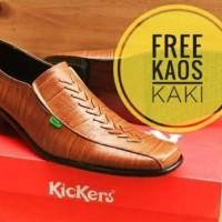 Jual Sepatu Kickers Pantofel Low Sersan Formal Pria Wanita Kulit Asli [Tan] Murah
