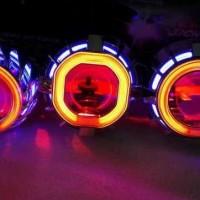 Lampu Projie Projector angel eyes r15 r25 MT25 ninja 250 carbu ninja