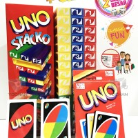 Jual UNO STACKO + UNO Card + 2 Dices ! (1 Package) Murah