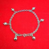 harga Perhiasan Gelang Tangan Perak Silver 925 Lapis Emas Putih Tokopedia.com