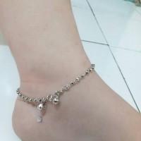 harga Perhiasan Gelang Kaki Perak Silver 925 Lapis Emas Putih Tokopedia.com