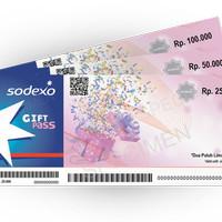 Voucher Sodexo Gift Pass Biru - Carefour, Gramedia @100000 Harga 99000