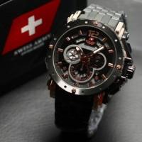 Jam Tangan Pria Swiss Army Date Chronograph Sport Stainles