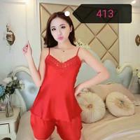 Harga piyama satin baju tidur elegan bajutidur murah sleepwear impor | antitipu.com