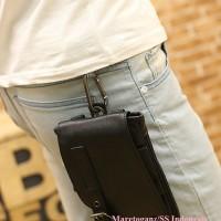 Tas hp gadget dompet selempang/pinggang Kecil Kulit PU colcoo