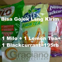Jual Milo Complete Mix + Nestea Lemon Tea 1kg + Nestle Blackcurrant 750gr Murah