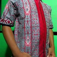 Kemeja Batik Gorga Batak Hitam BG3