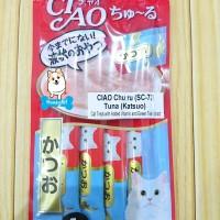 Snack kucing / CIAO Chu Ru Tuna Katsuo SC-72 (light blue)