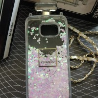 CASE CASING HANDPHONE SAMSUNG GALAXY S7 EDGE COCO CHANEL WATER BLINK