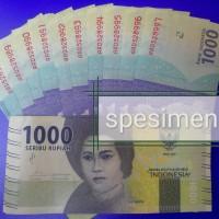 UANG BARU NKRI Rp. 1000 RUPIAH 2016 (CUT MEUTIA), KONDISI BARU