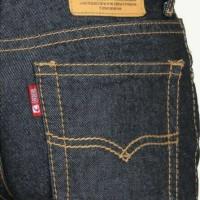 Celana jeans biru garmen ukuran Regular