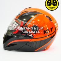 harga Helm Full Face Kyt X Rocket Red Fluo Black Gunmetal Tokopedia.com