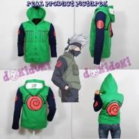Jaket Anime Naruto Shippuden Kakashi Hoodie Pria Wanita Kostum Cospl