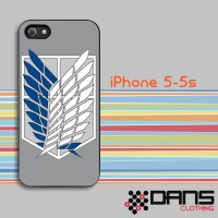 iPhone Case - iPhone 5s Attack on Titan Recon Corps Logo Cover