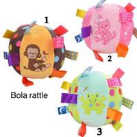 Jual Promo  Colourful Rattle Ball / Mainan Anak Bola Kerincing / Mainan Murah