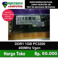 Memory RAM PC DDR1 1GB PC 3200 400Mhz V-Gen