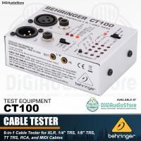 Behringer CT100 ( CT 100 ) 6 in 1 Kabel tester XLR TRS RCA MIDI Test