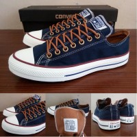 Sepatu All Star Converse Classic Peached Ox Biru Navy Murah