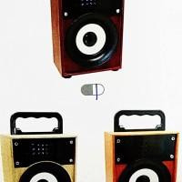SPEAKER BOX BLUETOOTH KTS-668 MOTiF KAYU + LAMPU