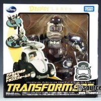 TOMY DISNEY LABEL - DONALD DUCK TRANSFORMER - BLACK & WHITE Beetle
