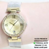 Jual Jam tangan guess premium rantai gold spiral supplier grosir termurah Murah