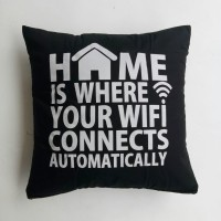 Sarung bantal sofa / Cushion cover - Wifi (black white)