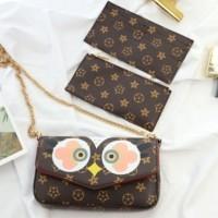 harga Tas Selempang Wanita Murah Import Big Eyes Owl Slingbag Tokopedia.com