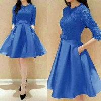 Mini Dress Wanita Viola Blue