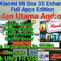 Jual * ROOTED * Xiaomi Hezi Mi Box 3S PRO 3 Enhanced 4K Android Smart TV Murah