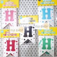 Banner Flag / Bunting Flag HBD Mix Colour
