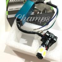 Lampu Headlamp LED 6 Sisi Luminos 9nine High Quality Super Terang Eco9