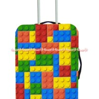 Passport Luggage Cover Sarung Koper Motif Lego Size L Ukuran 28 Inch