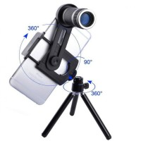 harga Lensa Tele Zoom 8x + Tripod Mini - Phone Telescope / Tele Lens  Tokopedia.com