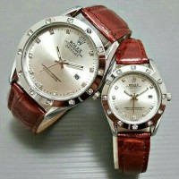 harga Rolex Couple Sl6 Leather Red Ring Rose Gold Tokopedia.com