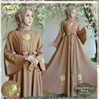 Baju Muslim / Gamis Syari Polos / Gamis Remaja Modern Ak Nafsya Brown