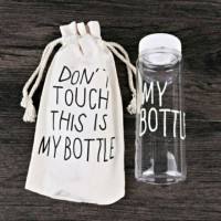 My Bottle + Pouch/ My Bottle Pouch Kanvas Botol Plastik/ Bottle Travel